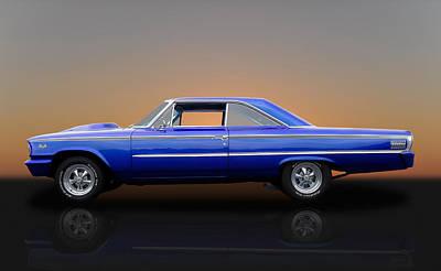 1963 Ford Galaxie 500 - 406 Tri-power Art Print