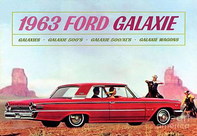 Mixed Media - 1963 Ford Galaxie by R Muirhead Art