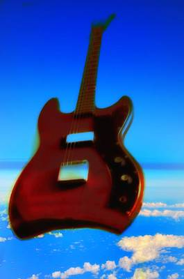 Music Digital Art - 1963 Guild Jet Star by Bill Cannon