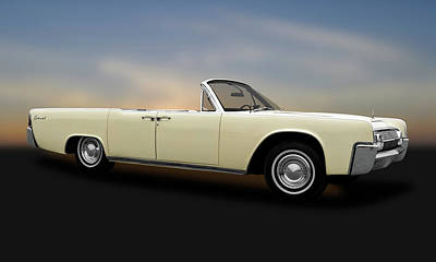 Photograph - 1963 Lincoln Continental Convertible  -  1963lincolncontinentalconvertible183876 by Frank J Benz