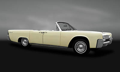 Photograph - 1963 Lincoln Continental Convertible  -  1963lincolncontinentalcvgry183876 by Frank J Benz