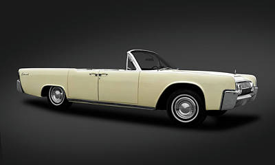 Photograph - 1963 Lincoln Continental Convertible  -  63lincolncontinentalcvdkframe183876 by Frank J Benz