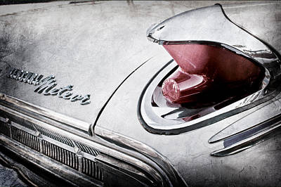 Photograph - 1963 Mercury Meteor Taillight Emblem -0070ac by Jill Reger