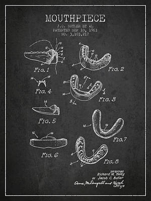 Martial Art Digital Art - 1963 Mouthpiece Patent Spbx15_cg by Aged Pixel
