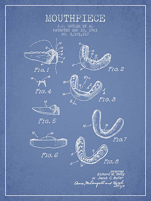 1963 Mouthpiece Patent Spbx15_lb Art Print