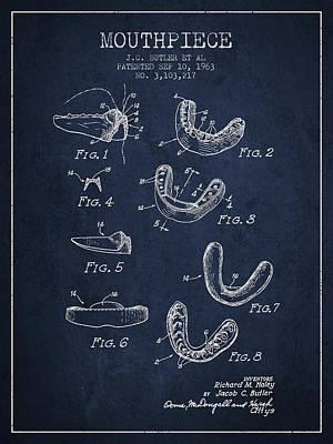 Punching Digital Art - 1963 Mouthpiece Patent Spbx15_nb by Aged Pixel