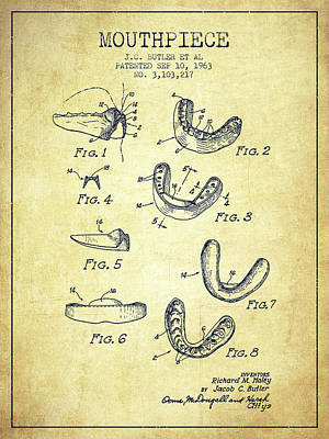 Punch Digital Art - 1963 Mouthpiece Patent Spbx15_vn by Aged Pixel