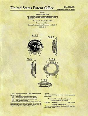 1963 Rolex Watch Patent Print by Dan Sproul