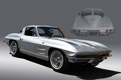 Speeding Chevrolet Photograph - 1963 Split Window Corvette by Nick Gray