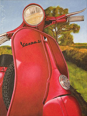 Scooter Painting - 1963 Vespa 50 by Rob De Vries