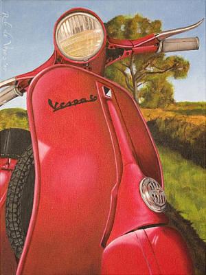 Painting - 1963 Vespa 50 by Rob De Vries