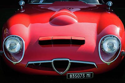 Photograph - 1964 Alfa Romeo Tz1 Grille -1494c by Jill Reger