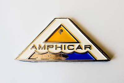 Car Emblem Photograph - 1964 Amphicar Model 770 Emblem -0411c by Jill Reger