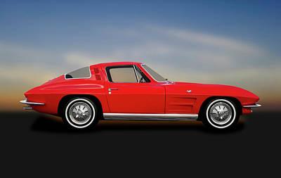Photograph - 1964 C2 Chevrolet Corvette  -  1964corvettestingrayfastback184368 by Frank J Benz