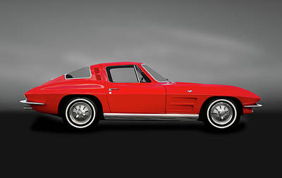 Photograph - 1964 C2 Chevrolet Corvette  -  1964corvettestingrayfastbackgray184368 by Frank J Benz