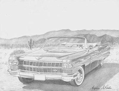 1964 Cadillac Series 62 Convertible Classic Car Art Print Art Print by Stephen Rooks