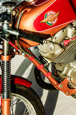 Bicycle Photograph - 1964 Ducati 250cc F3 Corsa Motorcycle -2727c by Jill Reger