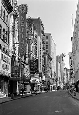 Photograph - 1964 Early Morning On Washington Street Boston by Historic Image