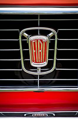Photograph - 1964 Fiat Cabriolet Grille Emblem by Jill Reger