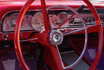 1964 Ford Emblem Photograph - 1964 Ford Fairlane Dashboard by Nick Gray