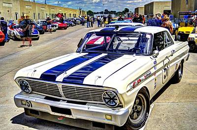 1964 Ford Falcon #51  Art Print by Josh Williams