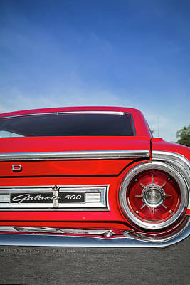 Photograph - 1964 Ford Galaxie 500 Taillight And Emblem by Ron Pate