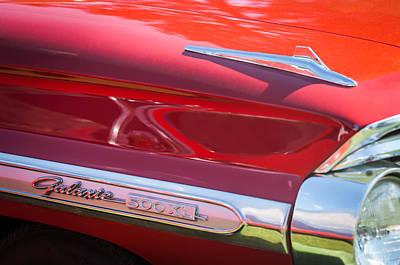 1964 Ford Emblem Photograph - 1964 Ford Galaxie 500 Xl Emblem -0042c by Jill Reger