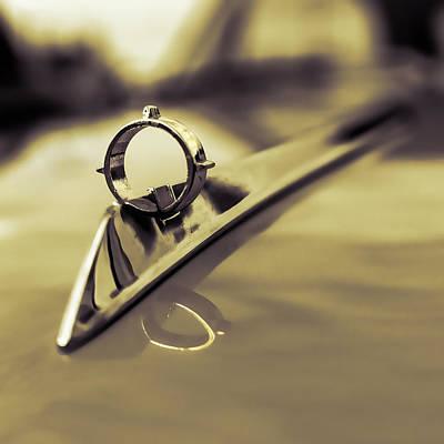 Nineteen Photograph - 1964 Ford Galaxie 500 Xl Hood Ornament - Sepia by Jon Woodhams