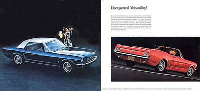 Photograph - 1964 Ford Mustang-08-09 by R Muirhead Art