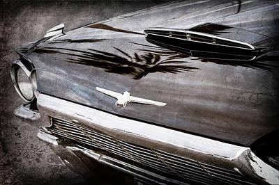 1964 Ford Emblem Photograph - 1964 Ford Thunderbird Grille Emblem -0519ac by Jill Reger