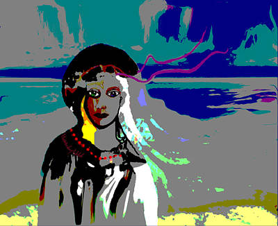 Digital Art - 1964 - Walk On The Seaside by Irmgard Schoendorf Welch