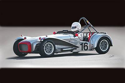 1964 Lotus Super 7 Vintage Racecar Art Print by Dave Koontz