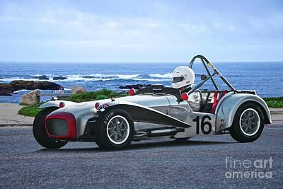 1964 Lotus Super Seven 'oceanside Raceway' Art Print by Dave Koontz