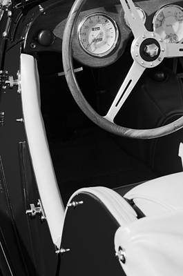 Photograph - 1964 Morgan 44 Black And White by Jill Reger