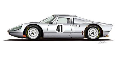 1964 Porsche 904 Carrera Gts Original by Alain Jamar