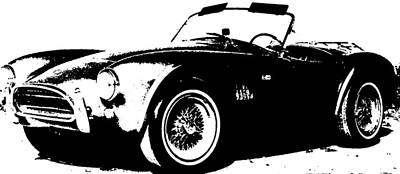 Drawing - 1964 Shelby Cobra Sketch by R Muirhead Art