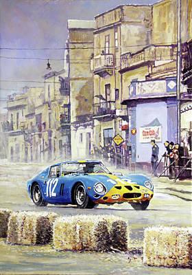1964 Painting - 1964 Targa Florio Ferrari 250 Gto by Yuriy Shevchuk