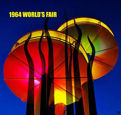 Digital Art - 1964 Worlds Fair Retro Artwork by David Lee Thompson