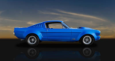 Photograph - 1965 427 Powered Ford Mustang Fastback by Frank J Benz