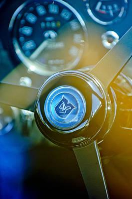1965 Aston Martin Db5 Coupe Rhd Steering Wheel Print by Jill Reger