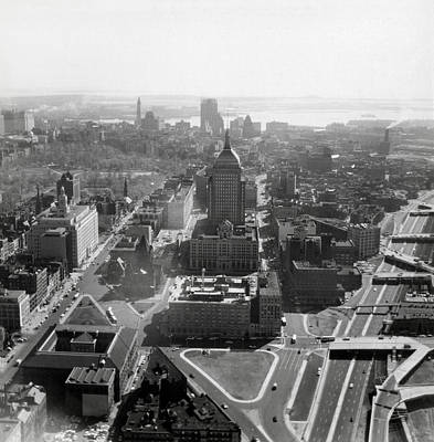 Photograph - 1965 Boston Panorama From Copley Square by Historic Image