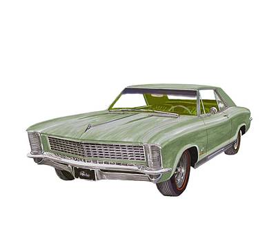 Painting - 1965 Buick Riviera by Jack Pumphrey