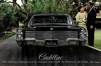Photograph - 1965 Cadillac De Ville Black  by R Muirhead Art