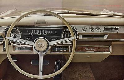 Photograph - 1965 Cadillac De Ville Dash by R Muirhead Art