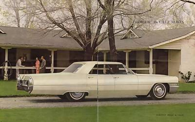 Photograph - 1965 Cadillac De Ville In Cream by R Muirhead Art