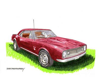 Painting - 1967 Camaro Muscle by Jack Pumphrey