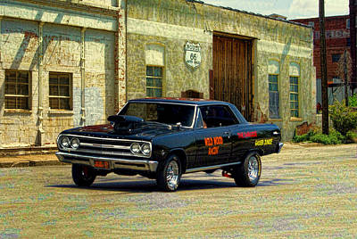 Photograph - 1965 Chevelle Gasser by Tim McCullough