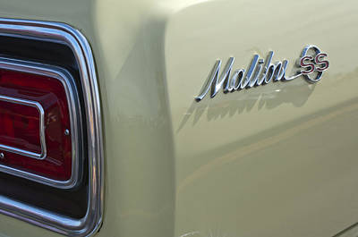 1965 Chevrolet Chevelle Malibu Ss Emblem And Taillight Print by Jill Reger