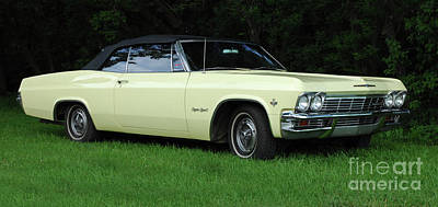 Classic Chev Photograph - 1965 Chevrolet Impala Ss by Bob Christopher