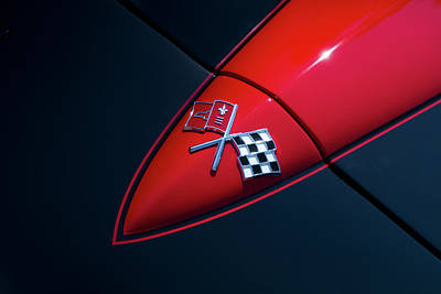 Photograph - 1965 Corvette Hood by Joel Witmeyer